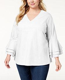 Love Scarlett Plus Size Ruffled-Sleeve Top