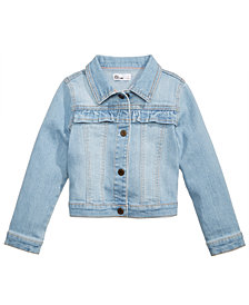 Epic Threads Ruffle-Trim Denim Jacket, Little Girls, Created for Macy's