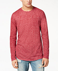 American Rag Men's Heathered Long Sleeve T-Shirt, Created for Macy's