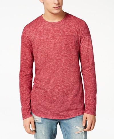 American Rag Men's Heathered Long Sleeve T-Shirt, Created for Macy's
