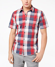 American Rag Men's Block Plaid Shirt, Created for Macy's