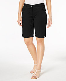 Karen Scott Petite Solid Cotton Shorts, Created for Macy's