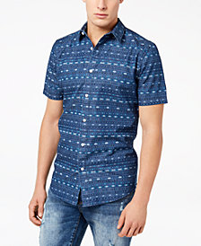 American Rag Men's Geometric Stripe Shirt, Created for Macy's