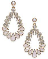 I.N.C. Gold-Tone Stone & Pavé Teardrop Drop Earrings, Created for Macy's