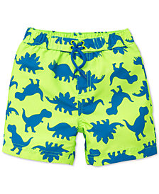 Little Me Dino-Print Swim Trunks, Baby Boys