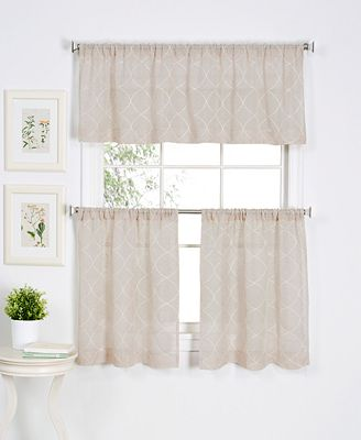 CLOSEOUT! Elrene Taylor Window Treatment Collection - Easy Care Linen Look!
