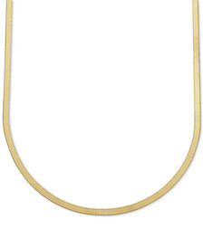 "20"" Italian Gold Herringbone Chain Necklace in 10k Gold"