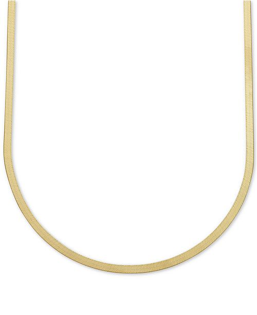 "Italian Gold 20"" Herringbone Chain Necklace in 10k Gold"