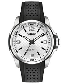 Citizen Drive From Citizen Eco-Drive Men's Black Polyurethane Strap Watch 45mm