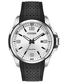 Citizen Drive From Citizen Eco-Drive Men's Black Polyurethane Strap Watch 45mm