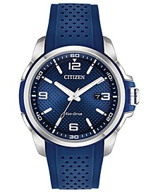 Drive From Citizen Eco-Drive Men's Blue Polyurethane Strap Watch 45mm