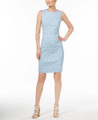 Calvin Klein Zigzag Jacquard Sheath Dress