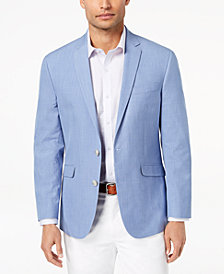 Kenneth Cole Reaction Men's Slim-Fit Blue Chambray Sport Coat, Online Only