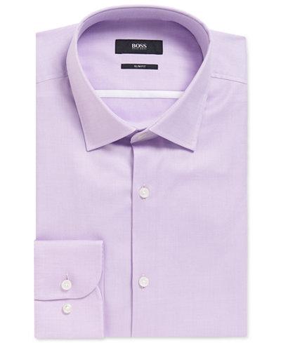 BOSS Men's Slim-Fit Cotton Dress Shirt