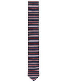 BOSS Men's Striped Slim Silk Tie