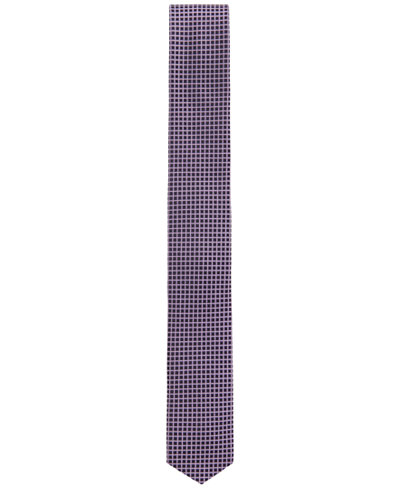 BOSS Men's Traveler Checked Silk Slim Tie