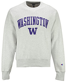 Champion Men's Washington Huskies Reverse Weave Crew Sweatshirt