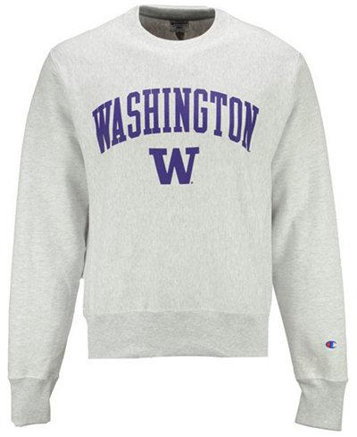 Champion Men's Washington Huskies Reverse Weave Crew Sweatshirt