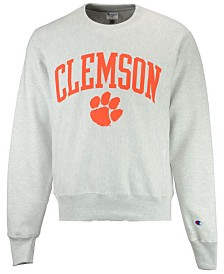 Champion Men's Clemson Tigers Reverse Weave Crew Sweatshirt