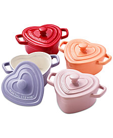 Martha Stewart Collection 4-Pc. Heart Cocottes Set, Created for Macy's