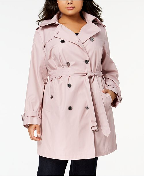 48881085bcf Michael Kors Plus Size Double-Breasted Trench Coat & Reviews - Coats ...