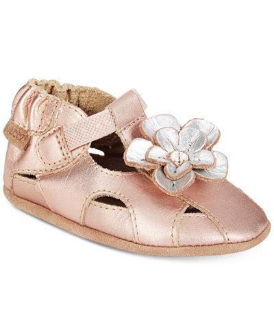 Robeez Pretty Pansy Sandals, Baby Girls (0-4)