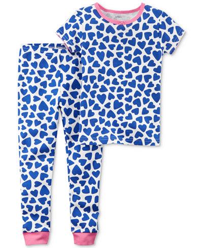 Carter's 2-Pc. Heart-Print Cotton Pajamas, Baby Girls