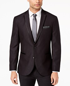 Kenneth Cole Reaction Men's Slim-Fit Stretch Black Jacquard Dinner Jacket, Online Only
