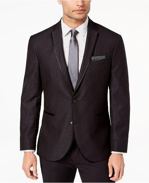 Kenneth Cole Reaction Men's Slim-Fit Stretch Black Jacquard Dinner Jacket, Online Only