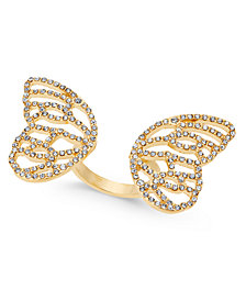 Thalia Sodi Pavé Butterfly Wings Ring, Created for Macy's