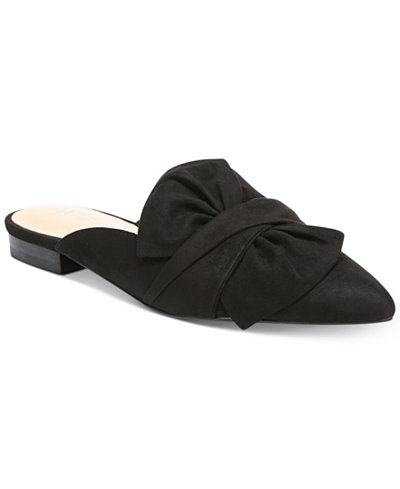 Bar III Palace Pointed Toe Mules, Created for Macy's