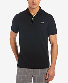 Lacoste Sport Men's Ultra-Light Logo Jacquard Tennis Polo