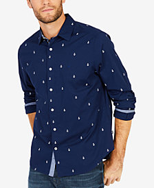 Nautica Men's Stretch Anchor-Print Shirt