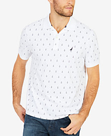 Nautica Men's Anchor-Print Deck Polo