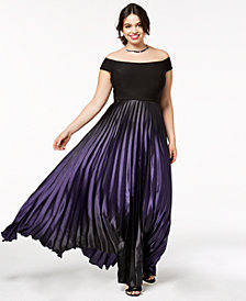 City Chic Trendy Plus Size Passion Ombré Maxi Dress