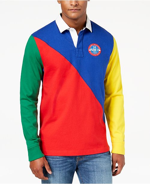 e67d849c ... Tommy Hilfiger Men's Boomer Colorblocked Polo, Created for Macy's ...