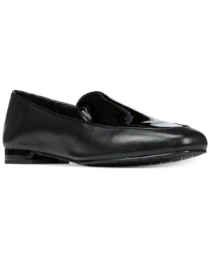 WOMEN'S HONEY LEATHER & PATENT LEATHER LOAFERS