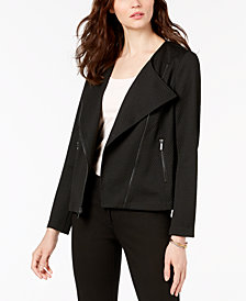 Alfani Knit Moto Jacket, Created for Macy's