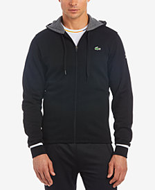 Lacoste Men's Novak Djokovic Brushed Fleece Graphic-Print Hoodie