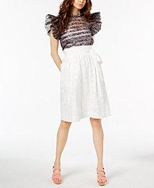 Jill Jill Stuart Ruffled Top & Lace Skirt, Created for Macy's