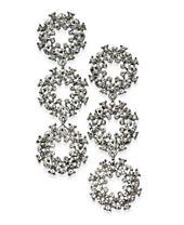 I.N.C. Silver-Tone Pavé Circle Triple Drop Earrings, Created for Macy's