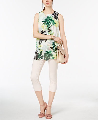 Alfani Printed Tunic Blouse, Created for Macy's