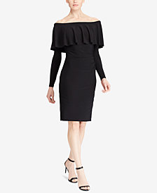 Lauren Ralph Lauren Ruffled Off-The-Shoulder Dress