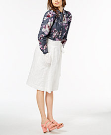 Jill Jill Stuart Printed Blouse & Lace Skirt, Created for Macy's