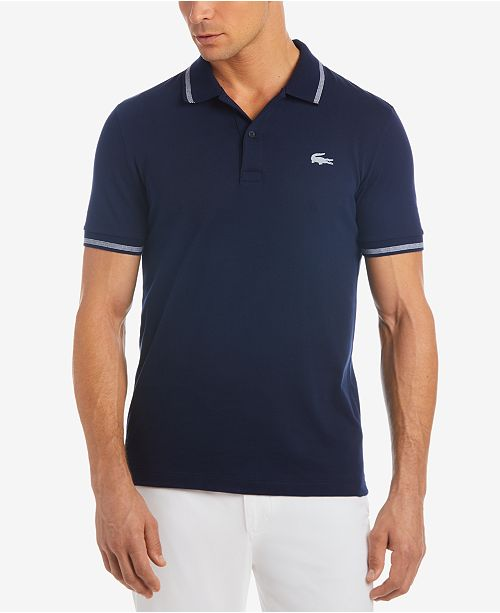 d4586fa5e521 ... Lacoste Men s Tipped Jersey Polo