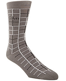 Calvin Klein Men's Box Pattern Dress Socks
