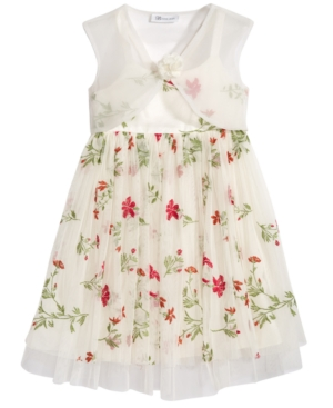 Bonnie Jean 2-Pc. Floral-Embroidered...