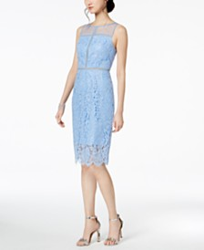 ... Sequin Embroidered Dress with Illusion Neckline ...