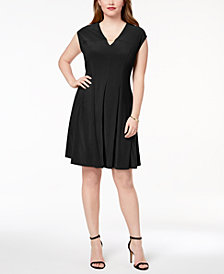 Love Scarlett Plus Size Pleated Hardware Dress