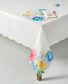 Homewear Beauchamp Floral Cutwork 104'' Table Cloth